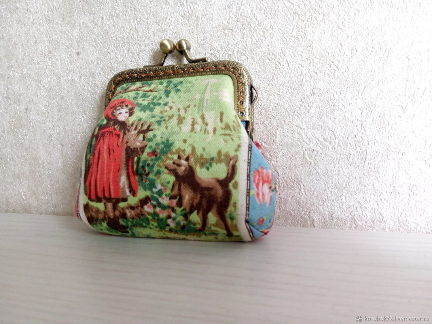 Purse textile with clasp Red, Wallets, St. Petersburg,  Фото №1
