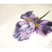 """Картины ручной работы. Ярмарка Мастеров - ручная работа Скетч """"Ирис"""" акварелью. Handmade."""
