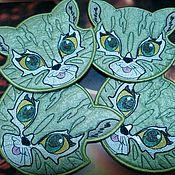 """Для дома и интерьера ручной работы. Ярмарка Мастеров - ручная работа Салфетки-подставки """"Котята"""". Handmade."""