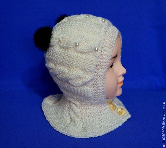 Шапки и шарфы ручной работы. Ярмарка Мастеров - ручная работа. Купить Шапочка-шлем для малышей. Handmade. Белый, шапочка для мальчика