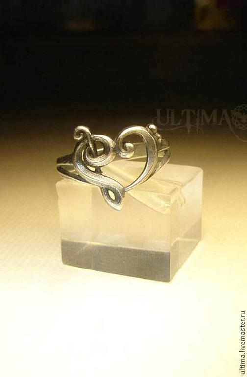 """Кольца ручной работы. Ярмарка Мастеров - ручная работа. Купить Кольцо """"Музыкальное сердце"""". Handmade. Серебряный, сердце, музыкальное сердце"""