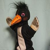 Кукольный театр ручной работы. Ярмарка Мастеров - ручная работа Театральная перчаточная кукла Ворона. Handmade.