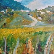 Картины и панно handmade. Livemaster - original item Picture. Abkhazia. On the way to the spring. Handmade.