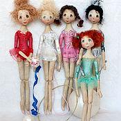Куклы и игрушки ручной работы. Ярмарка Мастеров - ручная работа Куколки ГИМНАСТКИ. Handmade.