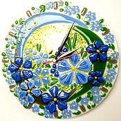 Для дома и интерьера ручной работы. Ярмарка Мастеров - ручная работа Настенные часы Весенние стекло фьюзинг. Handmade.