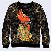 """Одежда ручной работы. Ярмарка Мастеров - ручная работа Свитшот """"Петух"""" символ Нового года. Handmade."""