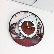 Для дома и интерьера ручной работы. Ярмарка Мастеров - ручная работа Часы Рыбацкое счастье. Handmade.