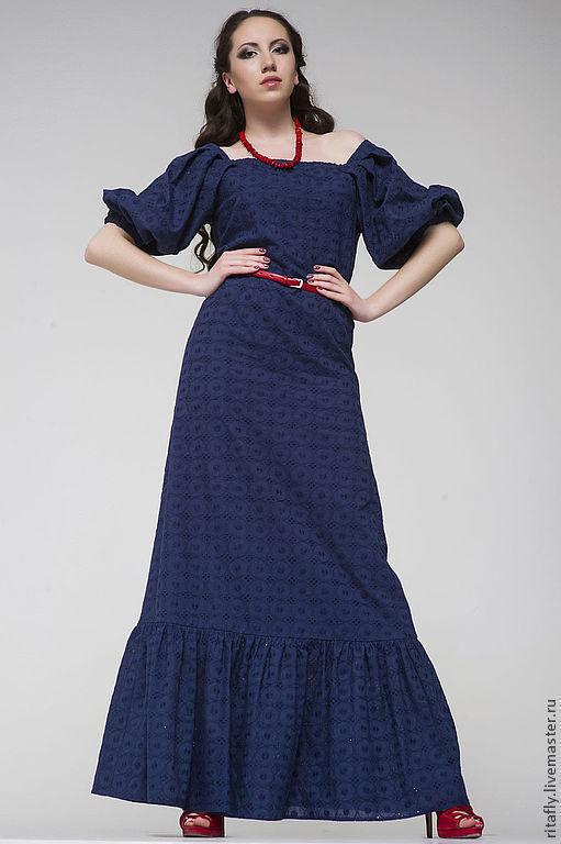 Красивое летнее длинное платье интернет магазине