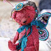 Куклы и игрушки ручной работы. Ярмарка Мастеров - ручная работа Мишка-бабочка. Handmade.