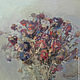 Oil painting Bouquet of wilted asters 38h38h cm, Pictures, Kaltan,  Фото №1