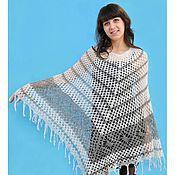 Одежда handmade. Livemaster - original item 68-poncho duvet, crochet, clothes. Handmade.