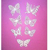 Аппликации ручной работы. Ярмарка Мастеров - ручная работа Ажурные бабочки  набор из 7 шт. Handmade.