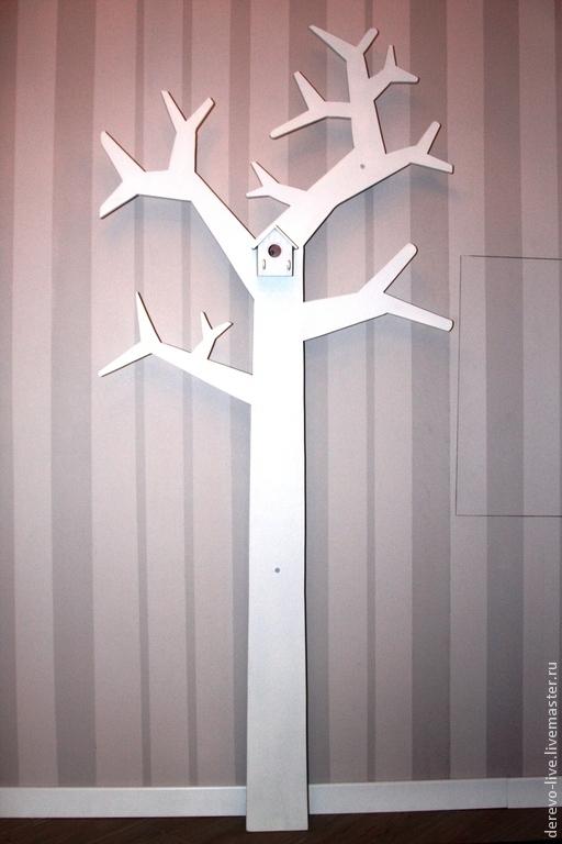 Прихожая ручной работы. Ярмарка Мастеров - ручная работа. Купить вешалка дерево. Handmade. Скандинавский стиль, вешалка, любой цвет