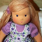 Куклы и игрушки ручной работы. Ярмарка Мастеров - ручная работа Сиреневый цветок-3, 36см,  вальдорфская кукла. Handmade.