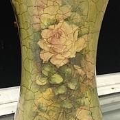 """Для дома и интерьера ручной работы. Ярмарка Мастеров - ручная работа Ваза """" Букет из роз"""". Handmade."""