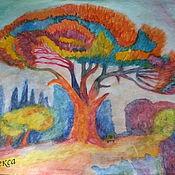 """Картины и панно ручной работы. Ярмарка Мастеров - ручная работа Яркая, красочная картина акварелью """"Дерево счастья"""". Handmade."""
