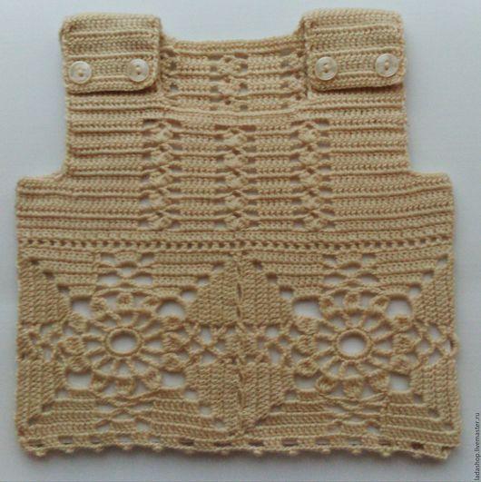 Для новорожденных, ручной работы. Ярмарка Мастеров - ручная работа. Купить Безрукавка для самых маленьких (5). Handmade. Одежда для новорожденных