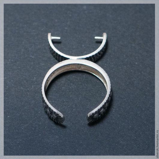 Для украшений ручной работы. Ярмарка Мастеров - ручная работа. Купить Основа для кольца под бусину регулируемая серебро 925 пробf. Handmade.