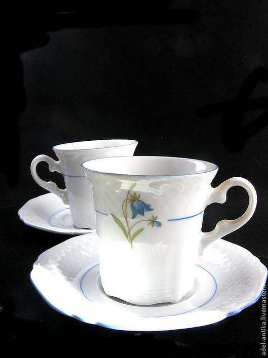 """Винтажная посуда. Ярмарка Мастеров - ручная работа. Купить Две кофейный чашки """"Эшенбах"""". Handmade. Разноцветный, Бавария, старинный фарфор"""