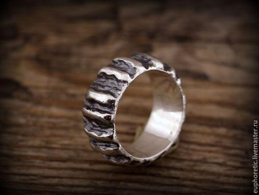 """Кольца ручной работы. Ярмарка Мастеров - ручная работа. Купить """"Fauvisme"""" серебряное кольцо унисекс. Handmade. Серебряный, кольцо мужское"""