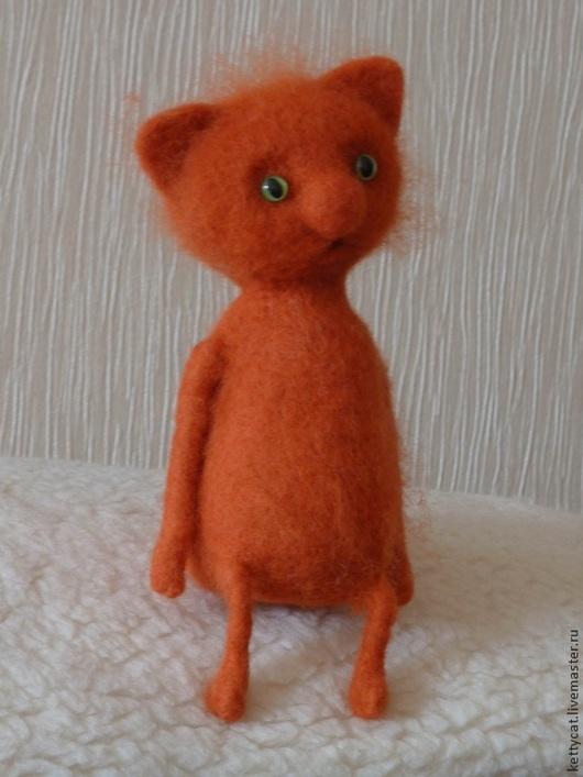 Игрушки животные, ручной работы. Ярмарка Мастеров - ручная работа. Купить Игрушка из шерсти Рыжий кот Рыжуля. Handmade.