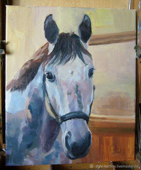 """Картина """"Серая лошадь"""". Купить картину, Картины, Москва,  Фото №1"""