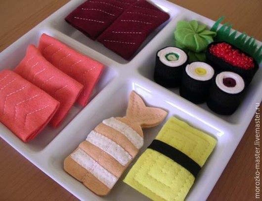 Персональные подарки ручной работы. Ярмарка Мастеров - ручная работа. Купить Набор для суши. Handmade. Разноцветный, фетр, суши
