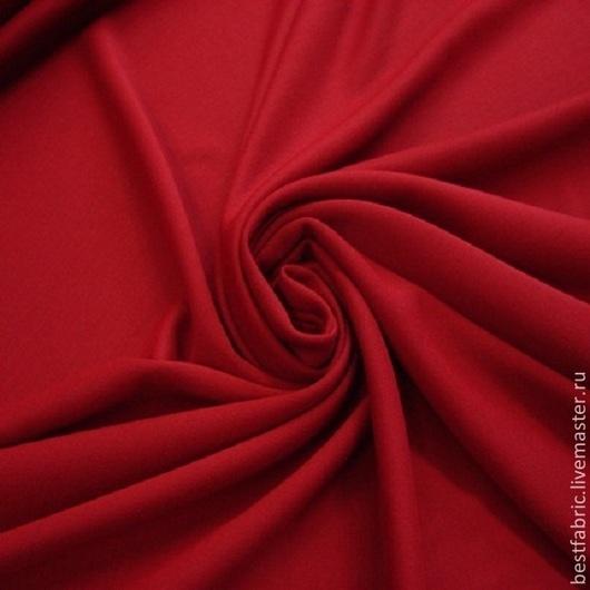 джерси плательно-костюмное   сток UNGARO , Италия шерсть + эл. шир. 180 см цена 2250 р цвет приглущенный красный двухсторонний с плотной мелкой вязкой упругое, матовое , утолщенное