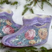"""Обувь ручной работы. Ярмарка Мастеров - ручная работа Чуни """"Тайны сердца"""". Handmade."""