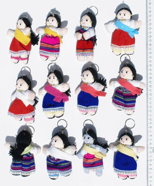 Брелоки ручной работы. Ярмарка Мастеров - ручная работа. Купить Брелоки индейские куклы стиль Южная Америка. Handmade. Брелок