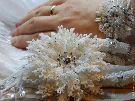 Комплекты украшений ручной работы. Ярмарка Мастеров - ручная работа. Купить Свадебный комплект Цветок вечной любви. Handmade. Свадьба