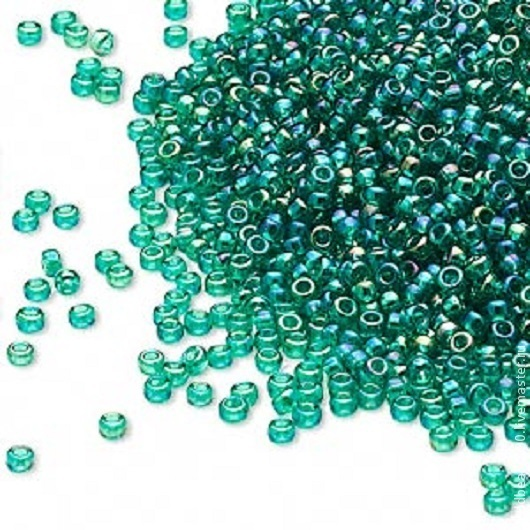 Для украшений ручной работы. Ярмарка Мастеров - ручная работа. Купить MIYUKI 15/0 295  glass, transparent rainbow sea green. Handmade.