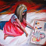 Картины и панно ручной работы. Ярмарка Мастеров - ручная работа Рисует. Картина акрилом. Handmade.