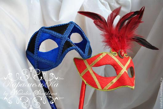 Аксессуары для фотосессий ручной работы. Ярмарка Мастеров - ручная работа. Купить Мужская карнавальная маска в венецианском стиле. Handmade.
