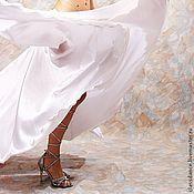 """Одежда ручной работы. Ярмарка Мастеров - ручная работа Юбка-солнце белая """"Жемчужина"""". Handmade."""