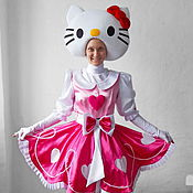 Одежда handmade. Livemaster - original item Hello Kitty. Animator-actor  suit. Handmade.