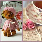 Куклы и игрушки ручной работы. Ярмарка Мастеров - ручная работа Мишка Тедди Розовый чай. Handmade.