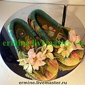 """Обувь ручной работы. Ярмарка Мастеров - ручная работа валяные тапочки""""Нежные"""". Handmade."""