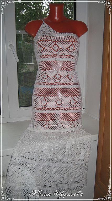 Пляжные платья ручной работы. Ярмарка Мастеров - ручная работа. Купить Пляжный сарафан-трансформер. Handmade. Белый, сарафан летний