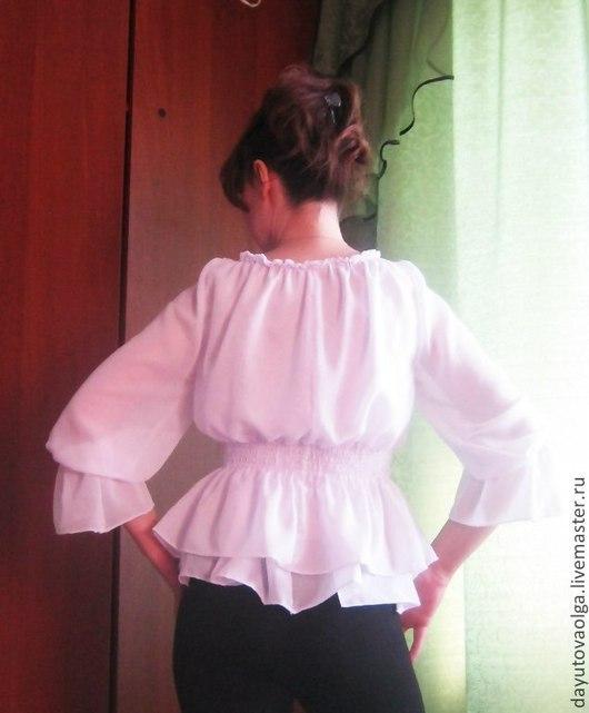 """Блузки ручной работы. Ярмарка Мастеров - ручная работа. Купить Блузка """"Катерина"""" шифон. Handmade. Белый, шифоновая блузка, воздушный"""
