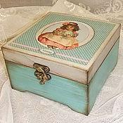 """Для дома и интерьера ручной работы. Ярмарка Мастеров - ручная работа Шкатулка """"Vintag"""". Handmade."""