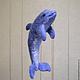 Игрушки животные, ручной работы. Ярмарка Мастеров - ручная работа. Купить Дельфин. Handmade. Фиолетовый, валяние из шерсти, вода