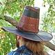 Ролевые игры ручной работы. Заказать Шляпа вичхантера кожаная двуцветная. Мастерская 'Чёрная Белка' (squirrel-craft). Ярмарка Мастеров.