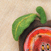 """Украшения ручной работы. Ярмарка Мастеров - ручная работа Брошь """"Яблоко коричное"""". Handmade."""