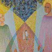 """Картины и панно ручной работы. Ярмарка Мастеров - ручная работа Картина маслом """"Врата, дорога в Вечность"""". Handmade."""
