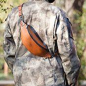 Сумки и аксессуары handmade. Livemaster - original item Pouch belt mens leather - Monolit-Bizon. Handmade.