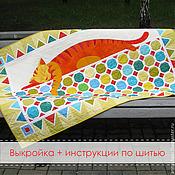 Материалы для творчества ручной работы. Ярмарка Мастеров - ручная работа Выкройка детского одеяла Цветные сны. Handmade.