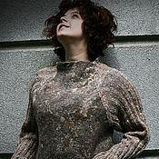 """Одежда ручной работы. Ярмарка Мастеров - ручная работа Валяный свитер """"Latte"""". Handmade."""
