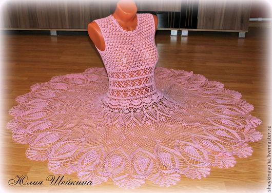 Платья ручной работы. Ярмарка Мастеров - ручная работа. Купить Платье крючком, вязаное платье. Handmade. Платье крючком