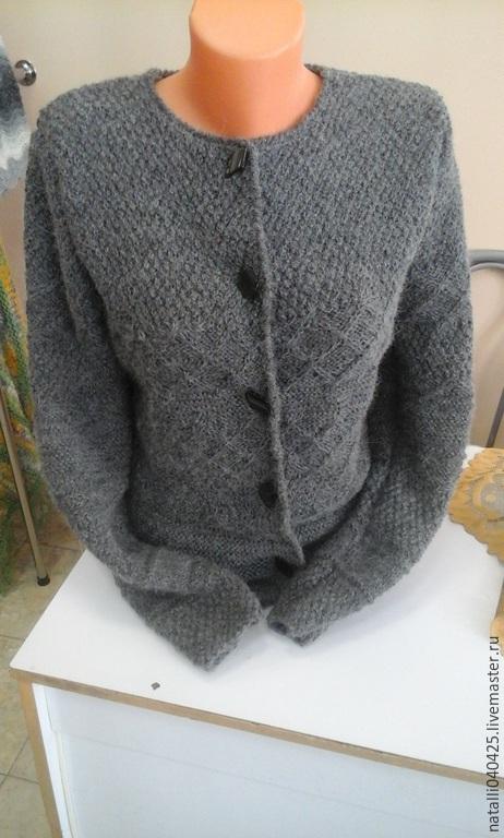 Пиджаки, жакеты ручной работы. Ярмарка Мастеров - ручная работа. Купить жакет с разными узорами. Handmade. Серый, жакет, альпака